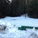 Waist high snow