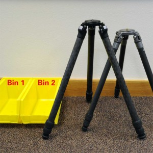 Pre-cleaning set-up for tripods.