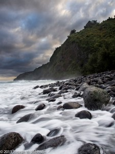 Waipio Rocky Surf by Joe Johnson