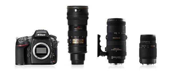 DXMO Nikon Telephoto lens line-up.