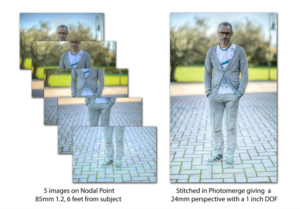 Portrait using 5 stitched images.