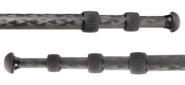 Tripod leg section comparison.