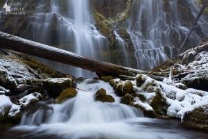 Proxy Falls, Oregon, in winter.