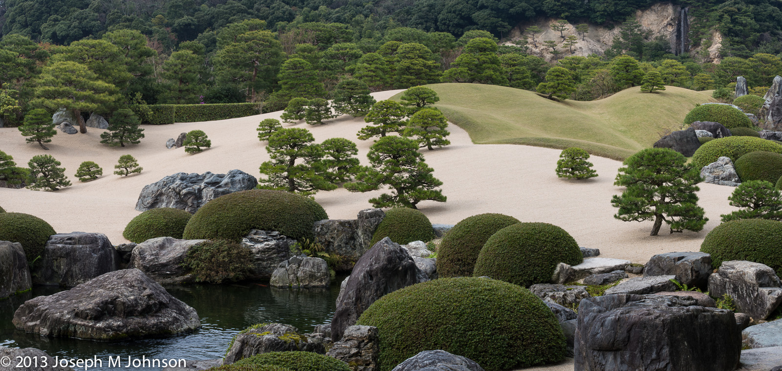The garden at Adachi Museum in Yasugi has a perfect view from any direction