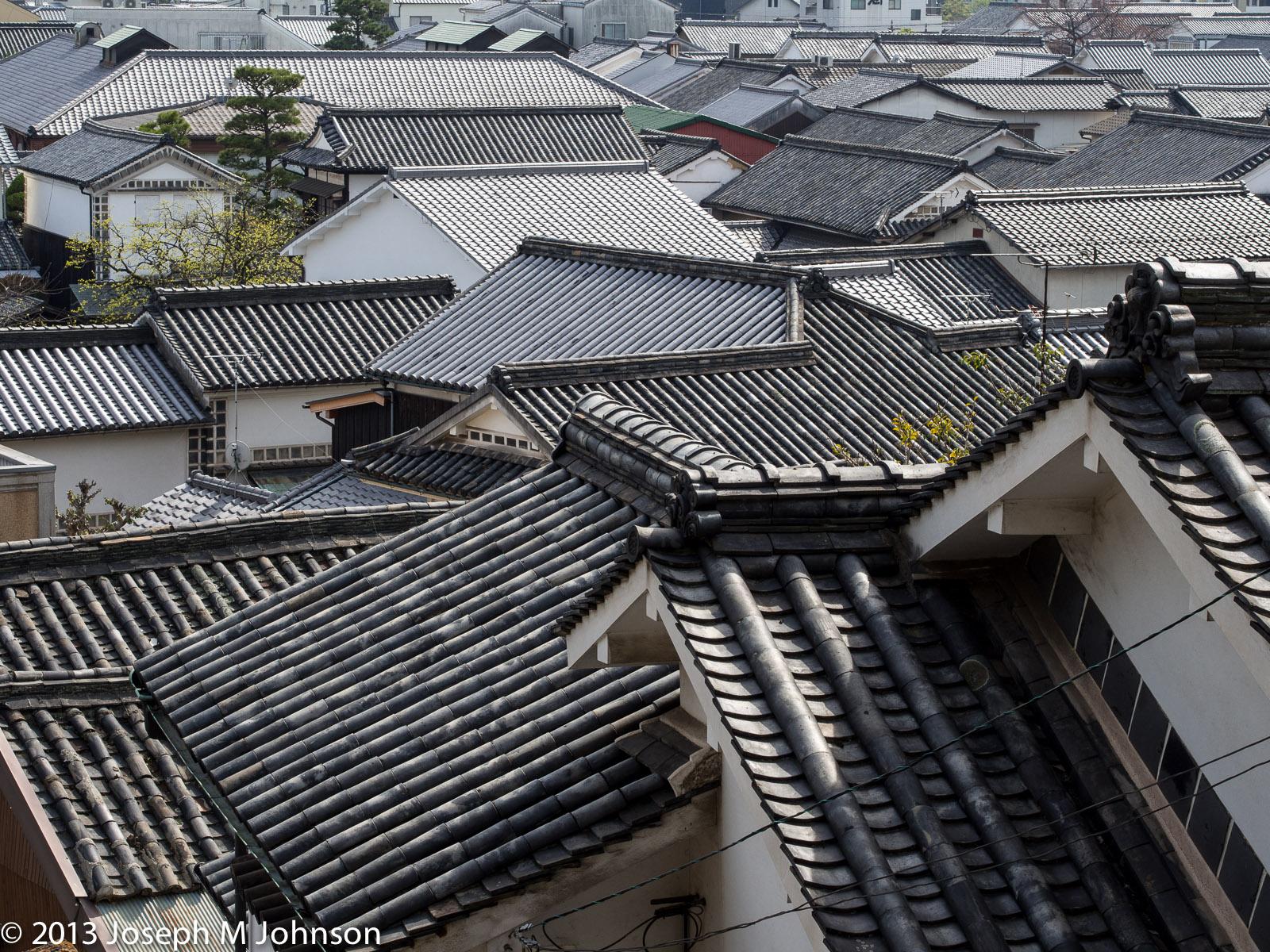 Kurashiki Bikan area roofs