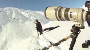Dan Carr hard at work in the snow