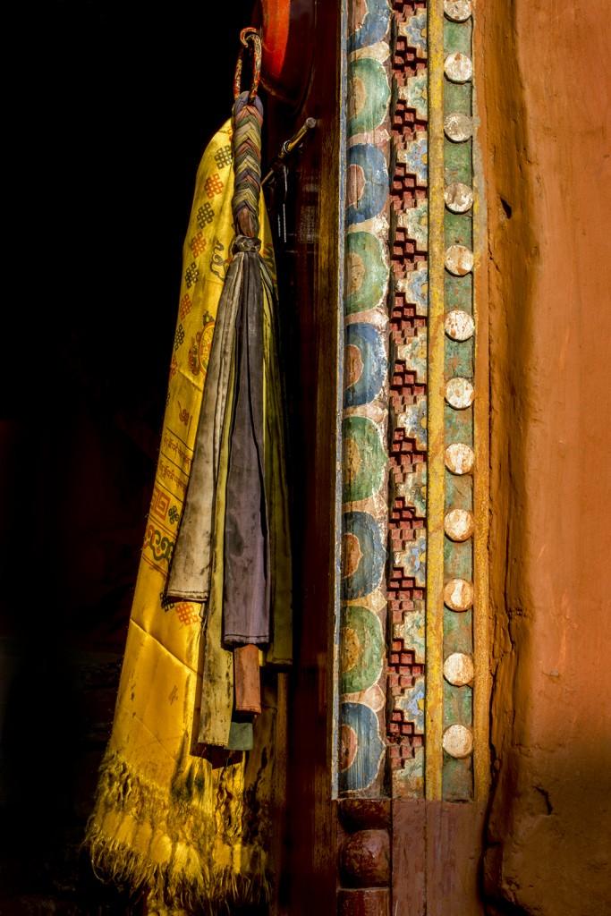 Monastery doory at the monastery in Kagbeni, Lower Mustang, Nepal