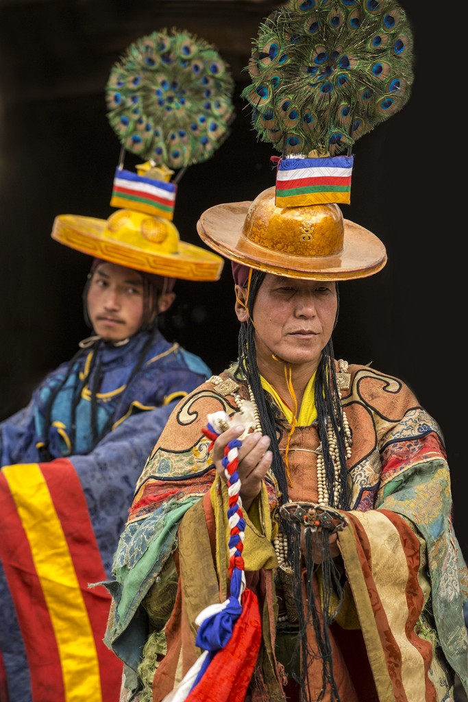 Main dancer in Tiji Festival in Lo-Manthang, Mustang, Nepal