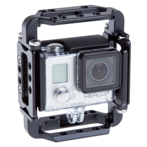 The HERO3+ with the RRS Cage Door and Full Cage components.