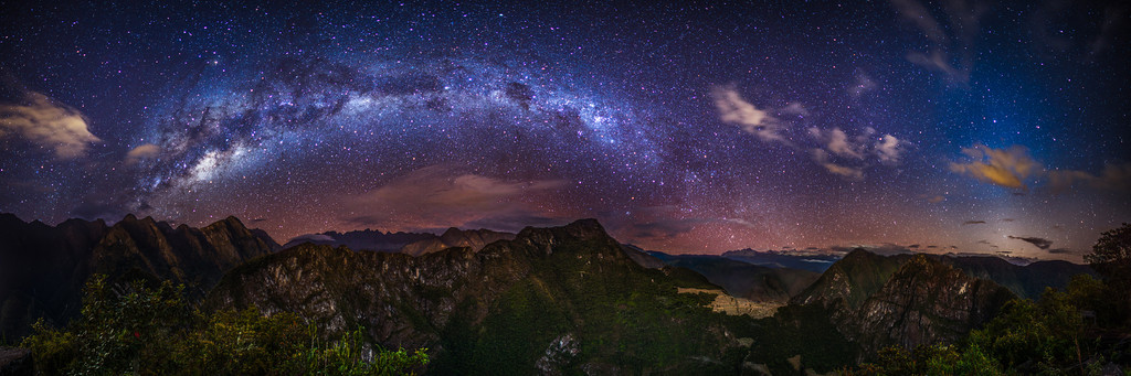 """The southern Milkyway above Macchu Picchu Peru"" by Thomas O'Brien"