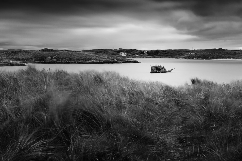 Bad Eddie near Bunbeg, Ireland from the dunes. By Athena Carey