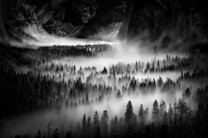 """Tunnel View Fog"" by Huggen Angeles"