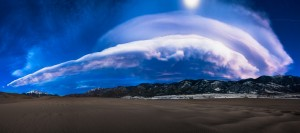 Lenticular Clouds Over Great Sand Dunes National Park
