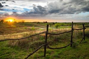 A Scene In Throckmorton, Texas As Storms Move Past