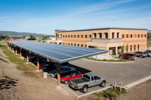 The finished solar panel array provides enough renewable energy to completely power our 19,000 sq/ft headquarters.