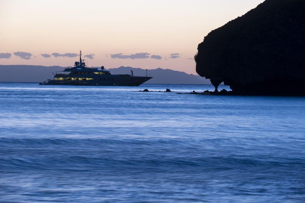 Baja, Balandra Bay, boat-1