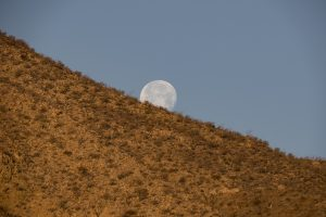 Baja, moonset over Bahia de Los Angeles