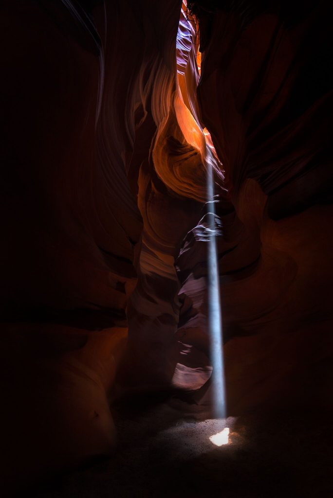 A Ray of Light in the Darkness (Antelope Canyon, AZ)